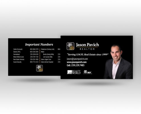 Jason Pavich Business Card Design
