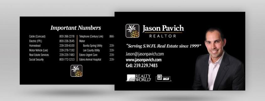 Jason Pavich Business Card Design