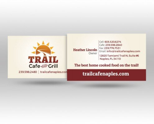 Trail Cafe Business Cards