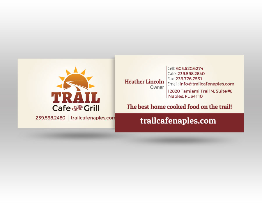 Print lw marketing consulting trail cafe business card design reheart Choice Image