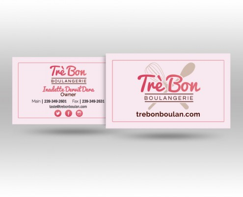 Tré Bon Business Card Design
