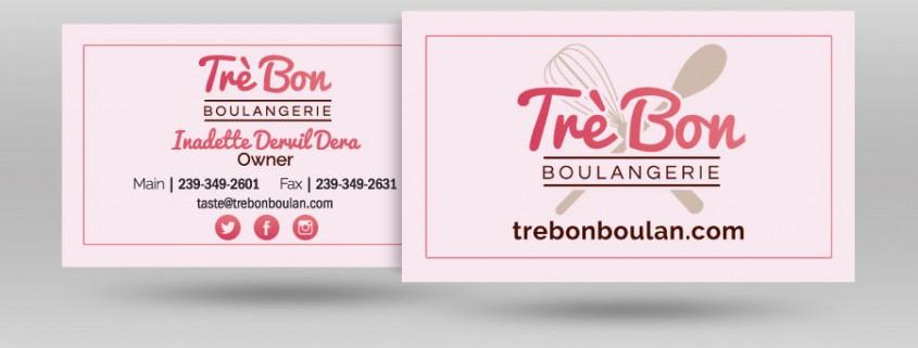 Tré Bon Business Card Design