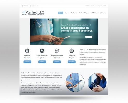 VarTec Website Design